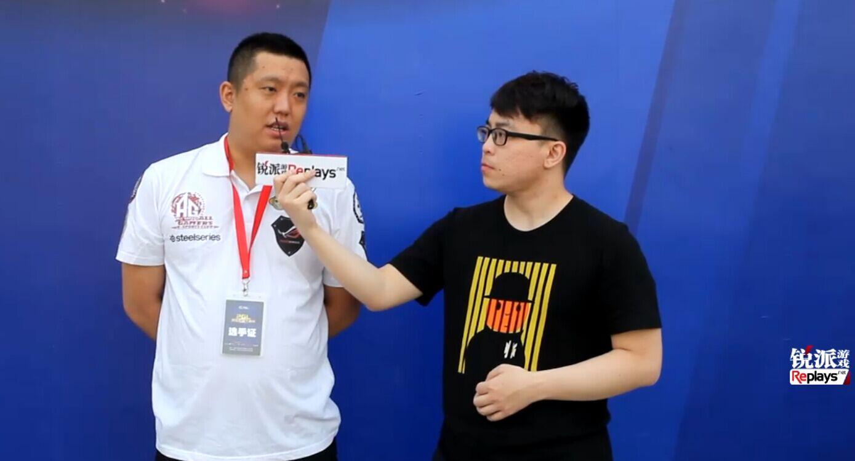 锐派CS-GO频道PGL春季赛现场采访-AG黄震