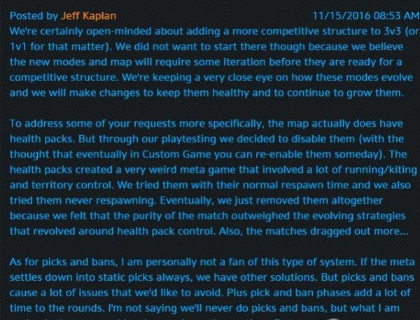 蓝贴简讯:1V1模式玩家将可以自定英雄池