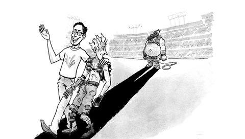一些老报纸风格的守望先锋幽默讽刺漫画
