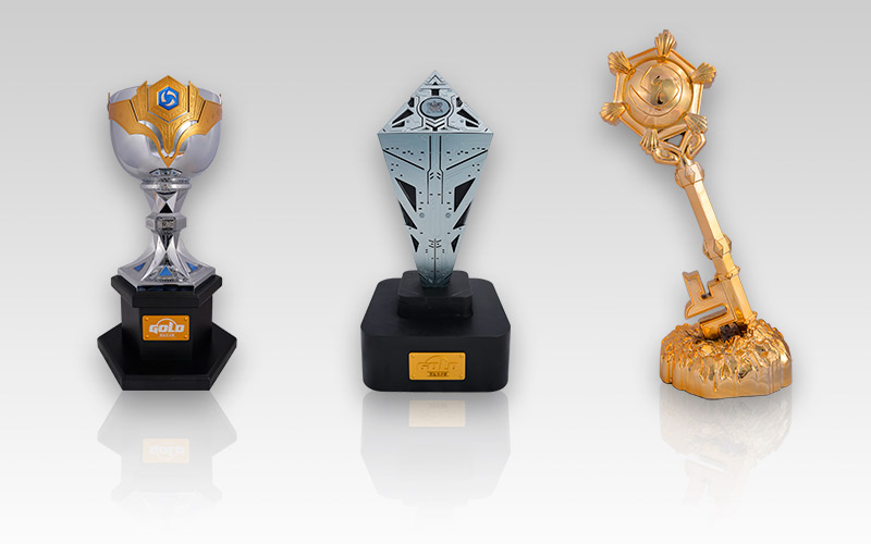 黄金总决赛奖杯公布!炉石风暴星际三大项目对比