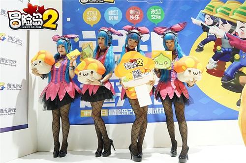 """此外,《冒险岛2》深受玩家喜爱的小伙伴""""花蘑菇""""携手四位""""兔"""