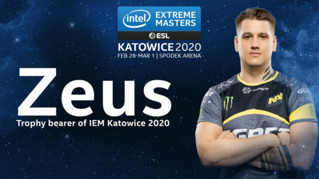 Zeus将成为第五位IEM卡托维兹冠军奖杯传递者