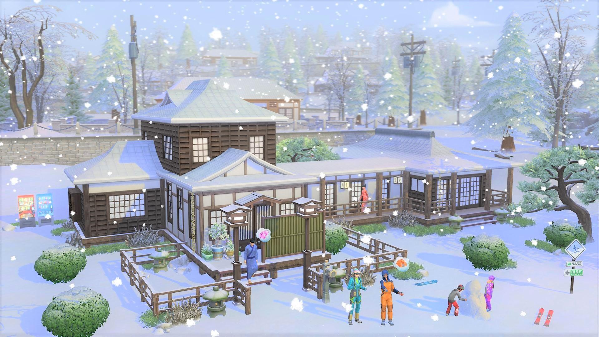 《模拟人生4:雪国圣地》游戏截图