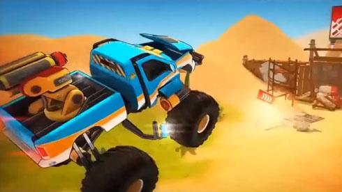 赛车竞速不新鲜 汽车变形才有劲儿《变形卡车》