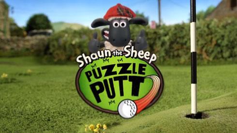 英国小羊肖恩玩手游《小羊肖恩:智力门球》
